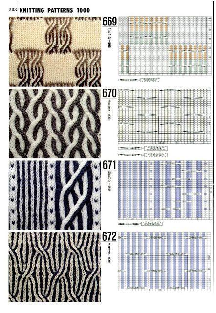 Schone Muster Zum Stricken Inspiration Tricot Pontos In 2020 Knitting Patterns Brioche Knitting Patterns Knitting Charts