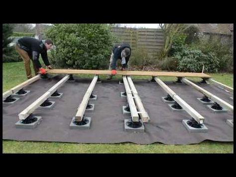 4 heures pour poser une terrasse sur plots - YouTube ...