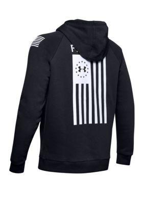 Under Armour Freedom Flag Rival Hoodie Hoodies Windbreaker Jacket Mens Khaki Pants Men