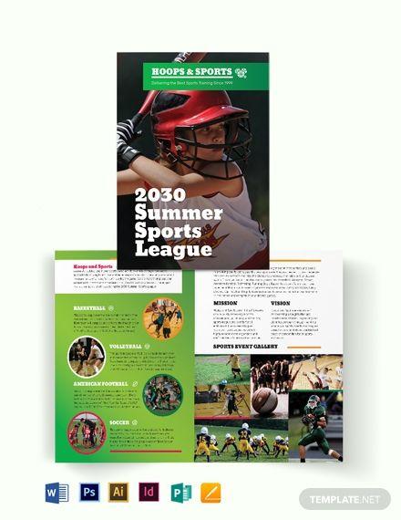 Sports Event Bi-Fold Brochure | Simple Brochure Template
