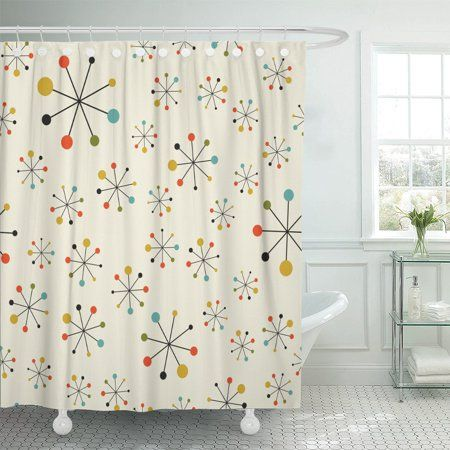 Home In 2020 Retro Shower Curtain Modern Shower Curtains Mid Century Modern Decor