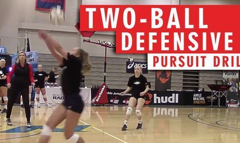 Two Ball Defensive Pursuit Drill Voley Voleyball Defensa