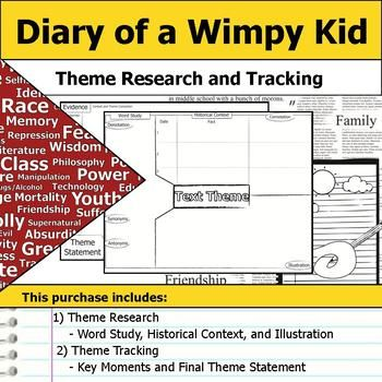 Diary Of A Wimpy Kid Theme Tracking Notes Etymology Context Research A Wrinkle In Time Theme Words Context
