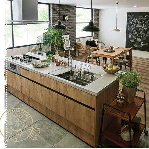 リクシルキッチン収納アレスタ270cm家電収納食器棚カップボード吊戸