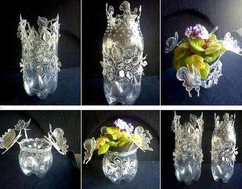 Bricolage Con Bottiglie Di Plastica.Riciclo Artistico Delle Bottiglie Di Plastica Creazioni Con