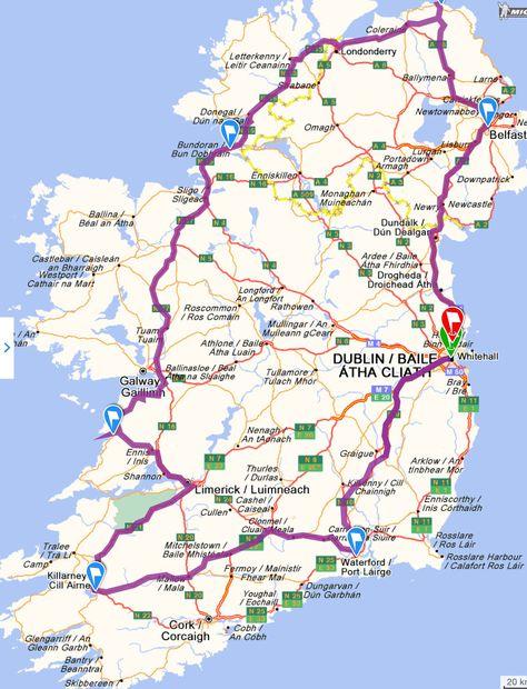 Dublin Waterford Cork Killarney Dingle Galway Sligo Lahinch