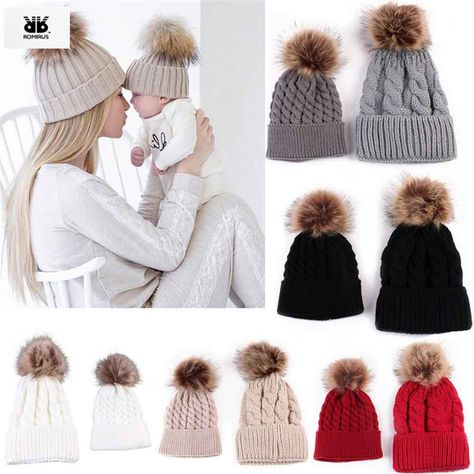 ACVIP Girls Manmade Wool Knit Pom Reindeer Cold Weather Boomber Hat