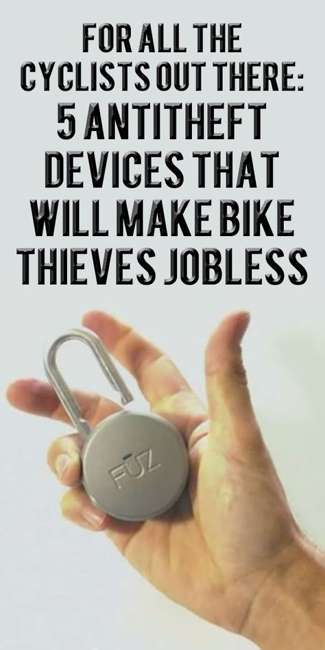 If you're worried your bike being stolen try this fantastic gadgets that are set to make bike thieves jobless