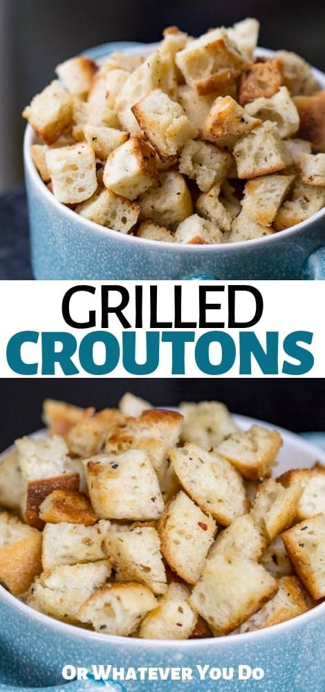 Traeger Grilled Homemade Croutons Easy Crouton Recipe On The