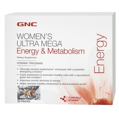 Gnc Womens Ultra Mega Energy Vitapaks 30 Ct Gnc Metabolism