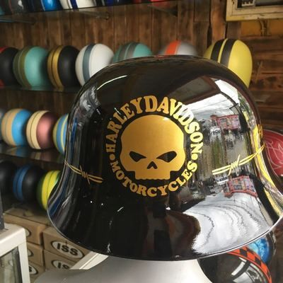 Harley Davidson Helmet With Ww German Motorcycle Style Black Glossy Color From Fancy Helmets In 2021 Harley Davidson Helmets Motorcycle Style Harley Davidson