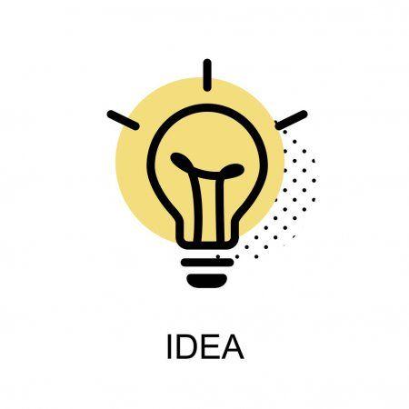 Idea Lightbulb Graphic Icon Vector Illustration Stock Vector Sponsored Graphic Lightbulb Idea Icon A Light Bulb Logo Light Bulb Icon Illustration