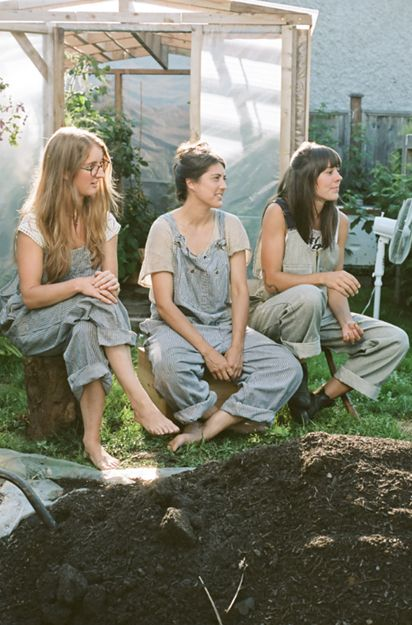 Alana Paterson photo of the Victory Gardens team being interviewed for Montecristo Magazine!