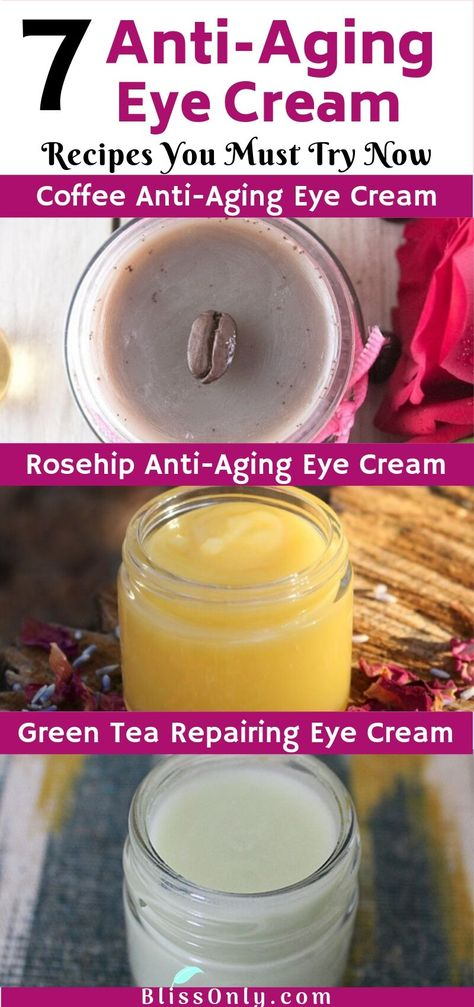 7 Easy DIY Anti-Aging Eye Cream recipes that will help you get free from wrinkles, dark circles, puffy eyes, and firms your under-eye skin. Click to know how you can make your own DIY anti-aging eye cream easily.