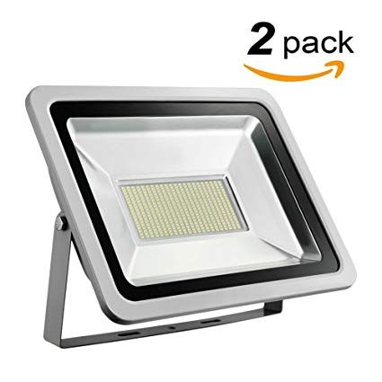 Missbee 2 Pack 200w Led Flood Light Outdoor Spotlight Waterproof Ip65 6000 6500k 22000lm Super Bright Security Ligh Led Flood Security Lights Led Flood Lights