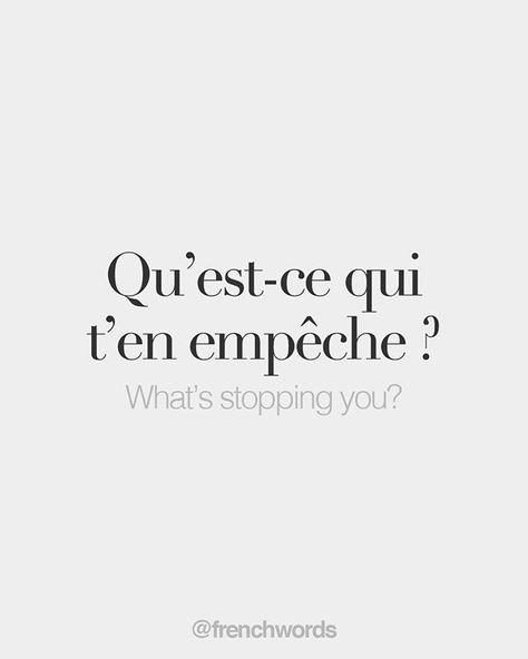 French Words/Qué te detiene