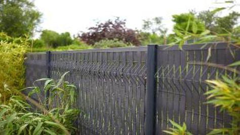 Occultation - Lamelles rigides en PVC   jardin   Cloture ...