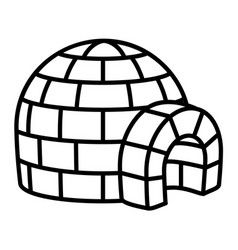 Igloo Icon Outline Style Outline Images Vector Images Icon Set