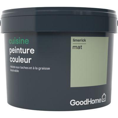 Peinture Cuisine Goodhome Vert Limerick Mat 2 5l En 2019