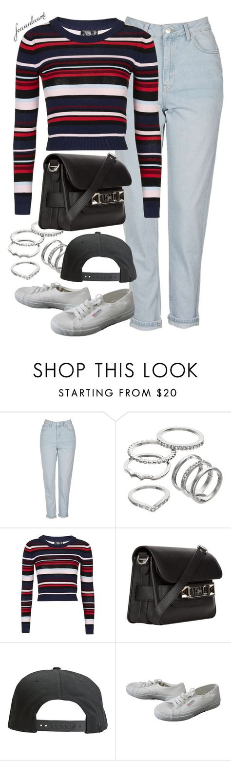 """""""Untitled #756"""" by foreverdreamt ❤ liked on Polyvore featuring Topshop, Apt. 9, Proenza Schouler, Tavik Swimwear and Superga"""