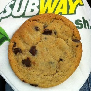 Get A Free Cookie From Subway Chocolate Chip Cookies Cookies Food