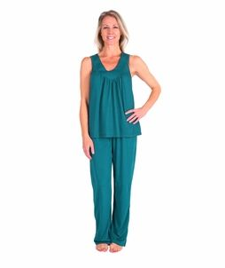 Women S Moisture Wicking Gathered Tank Pj Set In 2020 Clothes