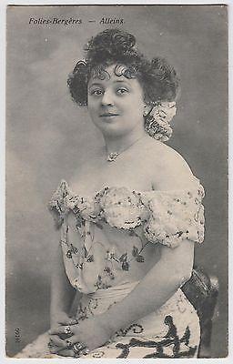 FRENCH-POSTCARD-actress-dancer-Alleins-Folies-Bergeres-Paris-risque-costume