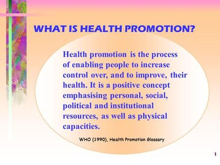 What Is Health Promotion What Is Health Health Promotion Social Well Being