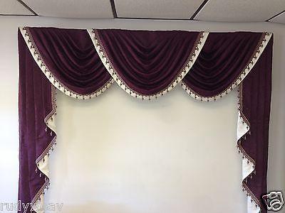 10w X 25l Ultimate Jabot Pattern Shipped Fully Pleated 100 Cotton Video Inst Ebay Elegant Draperies Luxury Drape Curtain Designs