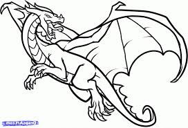 Image Result For How To Draw Dragons Dragon Coloring Page Easy