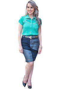 168b1fb3c98e Compre Saia Raje Jeans Resinada Moda Evangélica. Entrega rápida e segura.  Aproveite e compre