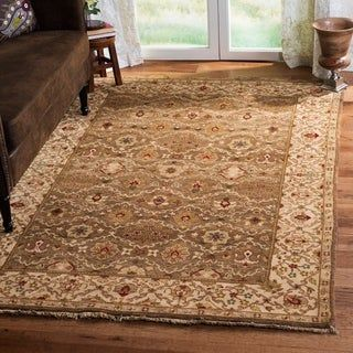 Safavieh Couture Hand Knotted Old World Radhildur Traditional Oriental Wool Rug With Fringe 5 X 7 6 Green Ivory Classic Rugs Colorful Rugs Old World