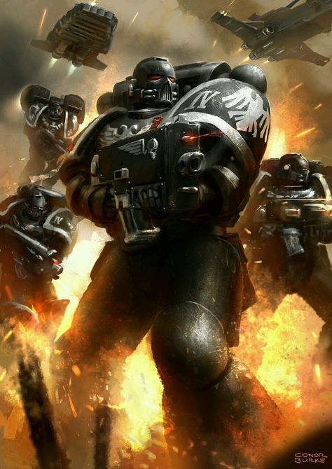 Raven Guard Strike Force https://www.artstation.com/p/QaZbd Conor…