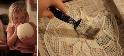 Doilies are cool again paper mache crafts and crafty solutioingenieria Image collections