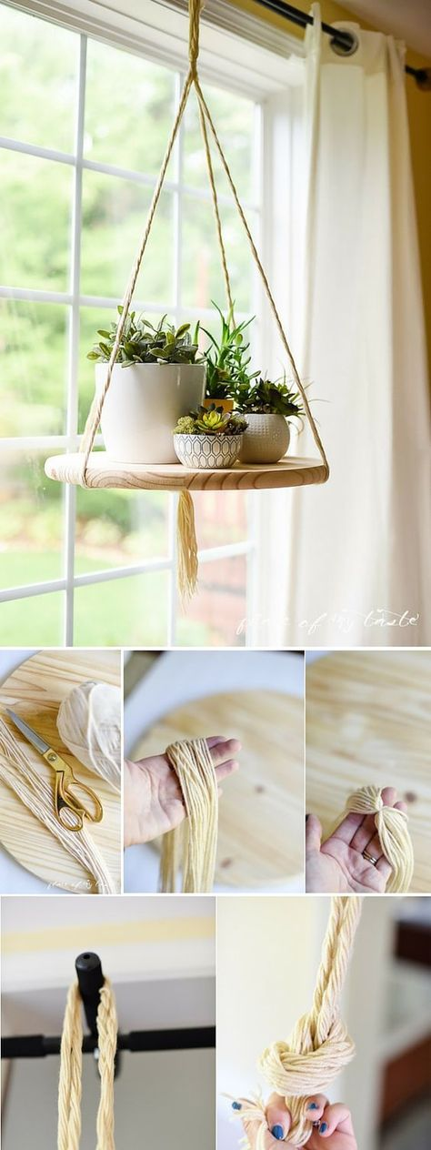 DIY FLOATING SHELF to display your plants or other decor items