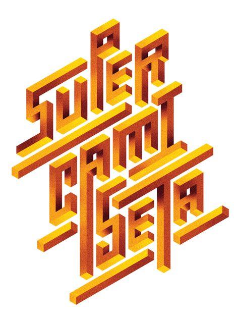 Impossible lettering by Manel Portomeñe, via Behance
