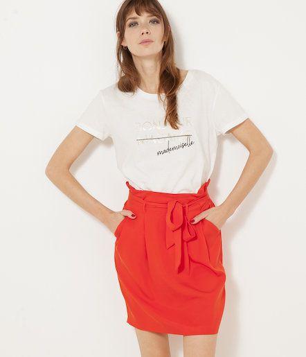 8c0e93757f5651 Vente Jupe taille haute femme - Camaïeu On adore cette petite jupe ...