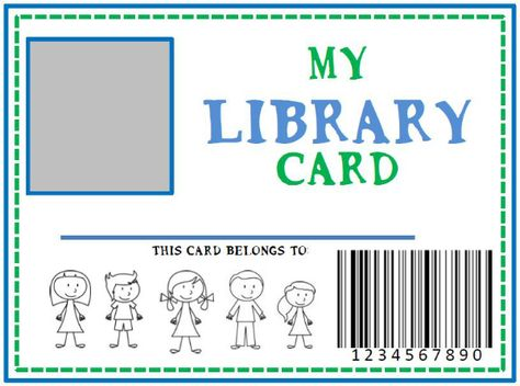 Family Library & DIY Pretend Library Card (she: Kristina) - Or so she says...