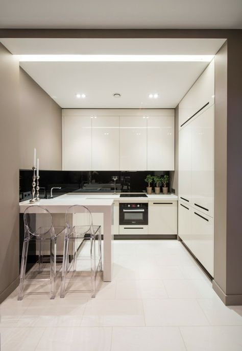 kleine küche einrichten beige wände Kueche Pinterest Kleine
