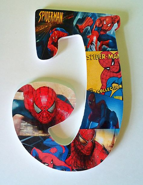 Custom SpiderMan Inspired Wooden Letter Decor By TheRCB On Etsy More