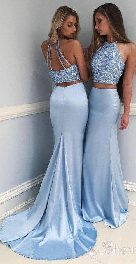 2 teiler kleid lang damen