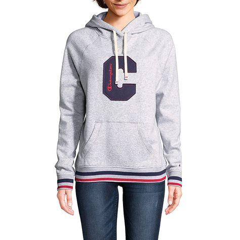 5abccd60 Champion Heritage Fleece Po Hood Long Sleeve Hooded Neck T-Shirt-Womens