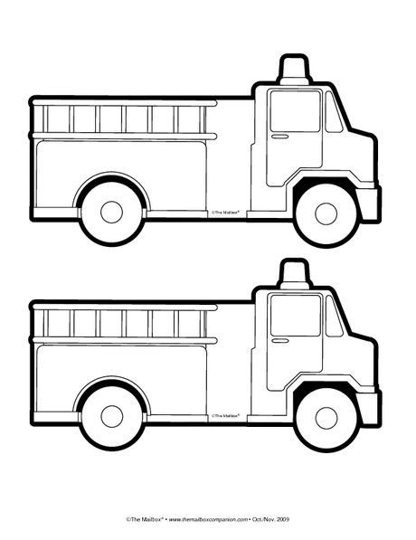 Firetruck Template Flannelboards Ive Made Pinterest Fire