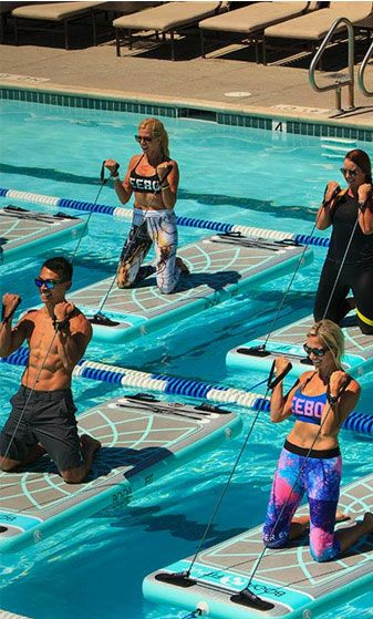 Fitmat Aqua Boga Sup Yoga Floating Aquatic Fitness Mats Aerobics Workout Aqua Fitness Pool Workout