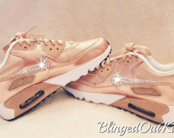 Girl s Bling Nike Air Max - Rose Gold Bling - Perfect Gift - Nike Shoes -  Nike Bling- Blinged Out - Nike Swarovski - Bling Nike Shoes-Bling 51b99cdf813a