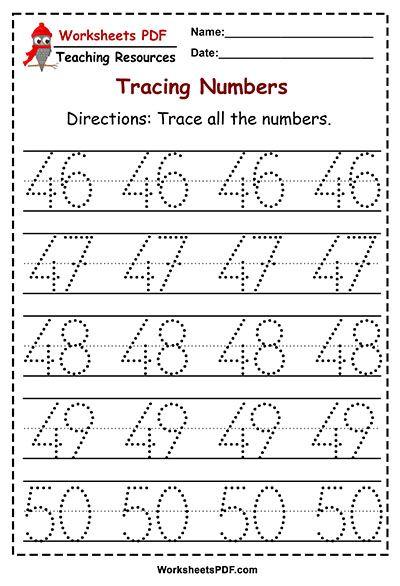 Numbers 1 50 Tracing Worksheets Worksheets Pdf Math Activities Preschool Kids Math Worksheets Tracing Worksheets Preschool Kindergarten worksheets booklet pdf