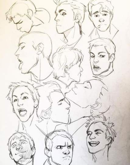 Best Drawing Reference Poses Male Facial Expressions Ideas Drawings Drawing Expressions Cool Drawings