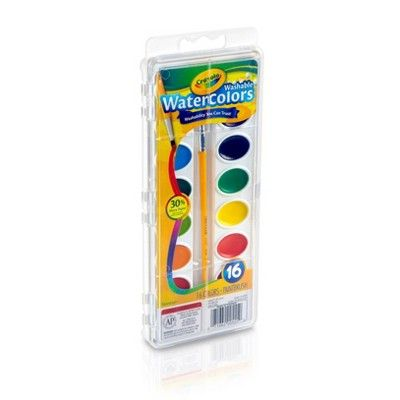 Crayola Watercolor Paints With Brush Washable 16ct Watercolor