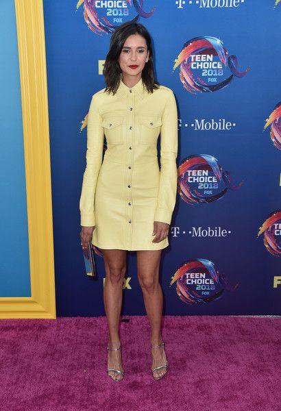 Nina Dobrev attends FOX's Teen Choice Awards.