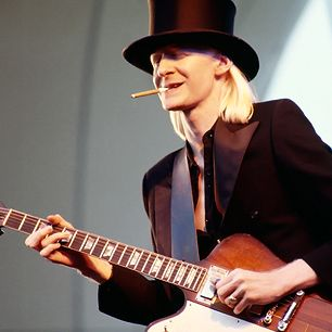 """Out of all the hopped-up Caucasians who turbocharged the blues in the late Sixties, Texas albino Johnny Winter was both the whitest and the fastest. Songs like his 1969 cover of """"Highway 61 Revisited"""" are astonishing showpieces of his lightningfast thumb-picked electric slide playing. Jimi Hendrix sought him out as a sideman, and Muddy Waters recognized his talent at first glance, becoming a friend and collaborator"""